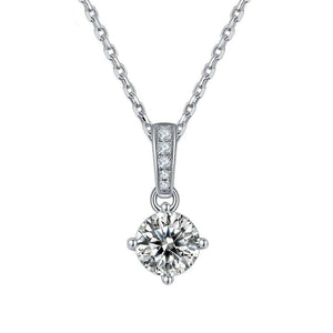 1.0ct VVS1 Brilliant Moissanite Solitaire Pendant Necklace