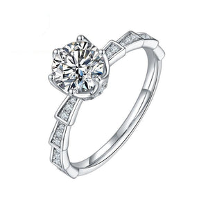 D Color 1ct Moissanite Diamond Women's Engagement Ring Pass Diamond Test