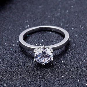 3.0ct EF Color Moissanite Elegant Solitaire Engagement Ring