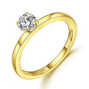 5mm 0.5Ct D Color VVS Moissanite Solitaire Engagement Ring