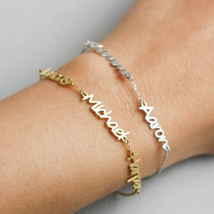 Personalized Three Name Bracelet - Black Diamonds New York