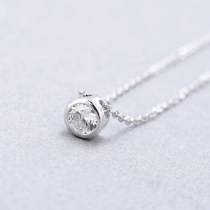 0.5Ct Round Cut 5mm EF Color Moissanite Pendant Necklace