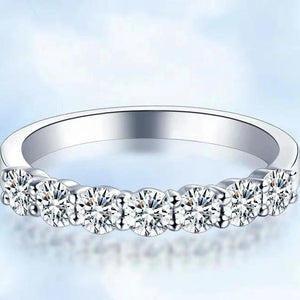 CVD Diamond Ring Half A Circle Seven Stones