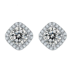 1.0Ct D Color VVS1 Moissanite Diamond Earrings