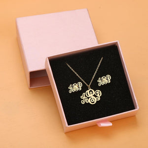 Customized Necklace & Earrings Set