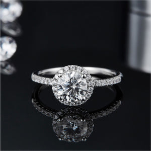 1ct VVS1 Moissanite Diamond Ring Wedding Engagement Ring