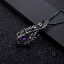 Handmade Angel's Wing Natural Amethyst Gemstone Necklace
