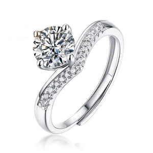 1CT Moissanite Engagement Bridal Classic Ring