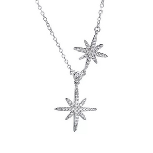 Fashion Double Star Design Women's Necklace