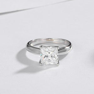 CVD Diamond Princess Square-shaped Ring