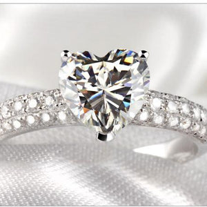 CVD Diamond Romantic Heart-shaped Ring