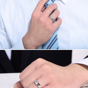 CVD Diamond Simple Engagement Ring for men