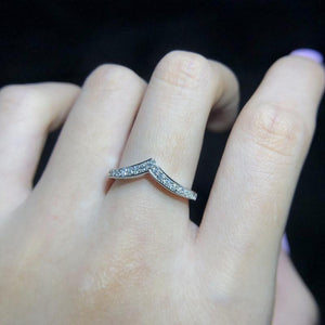 CVD Diamond Single V-Shape Ring