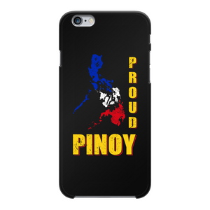 Proud Pinoy Back Printed Black Hard Phone Case