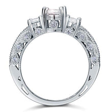 Vintage Style 2 Carat Created Diamond Wedding Engagement Ring