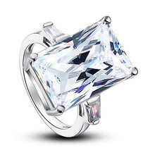 Princess Cut Created Diamond Luxury Ring