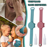 Portable silicone hand sanitizer bracelet