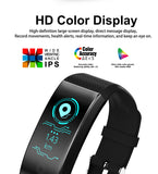 Screen Smart Bracelet Heart Rate Monitor IP68 Waterproof Fitness Tracker Band Bluetooth 4.0 Sports Wristbands