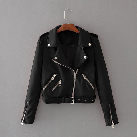 Leather Jacket/ Motorcycle Biker Outwear