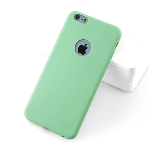 Phone Case For iPhone 7 6 6s 8 X Solid Color Cover