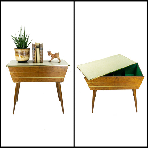 1960s SIDE TABLE with Sliding Lid by OPAL Möbel