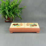 Handpainted 1940s SEWING JEWELRY BOX