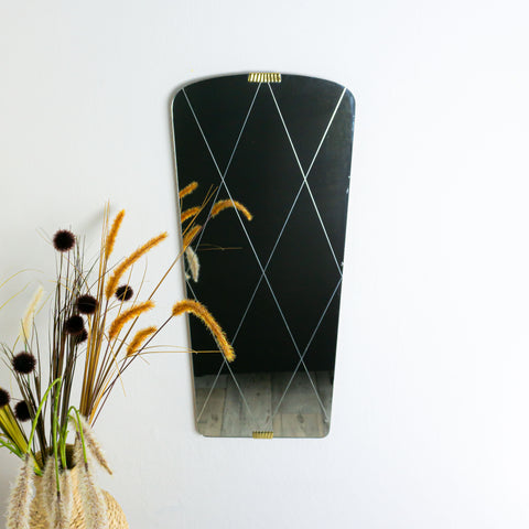 1950s Faceted WALL MIRROR
