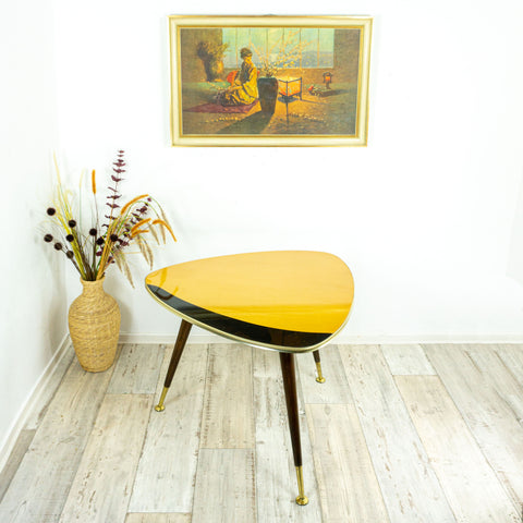 "Large 1960s TRIPOD COFFEE TABLE, 22.4"" 57cm by Ilse Möbel"