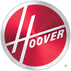 Red and silver Hoover logo