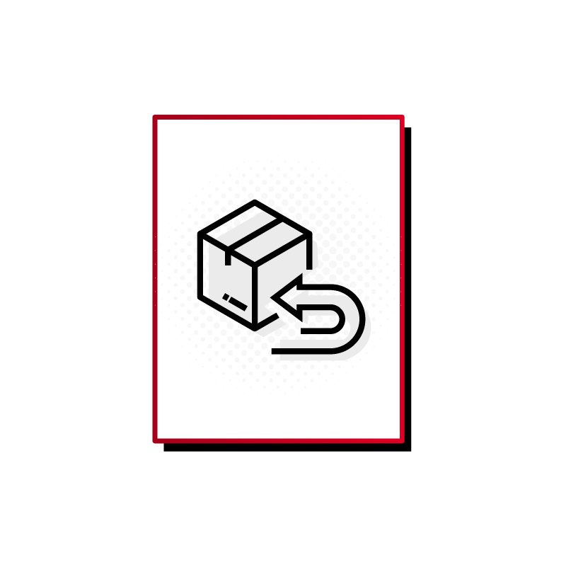 Returns icon with box and arrow