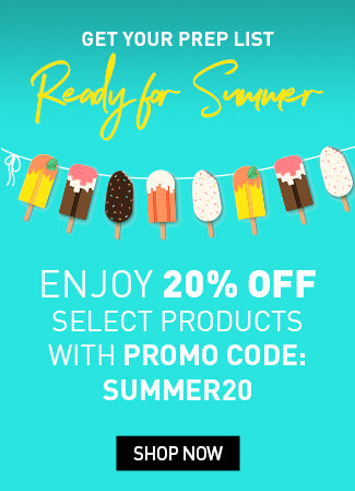 Enjoy 20% off select products with code SUMMER20