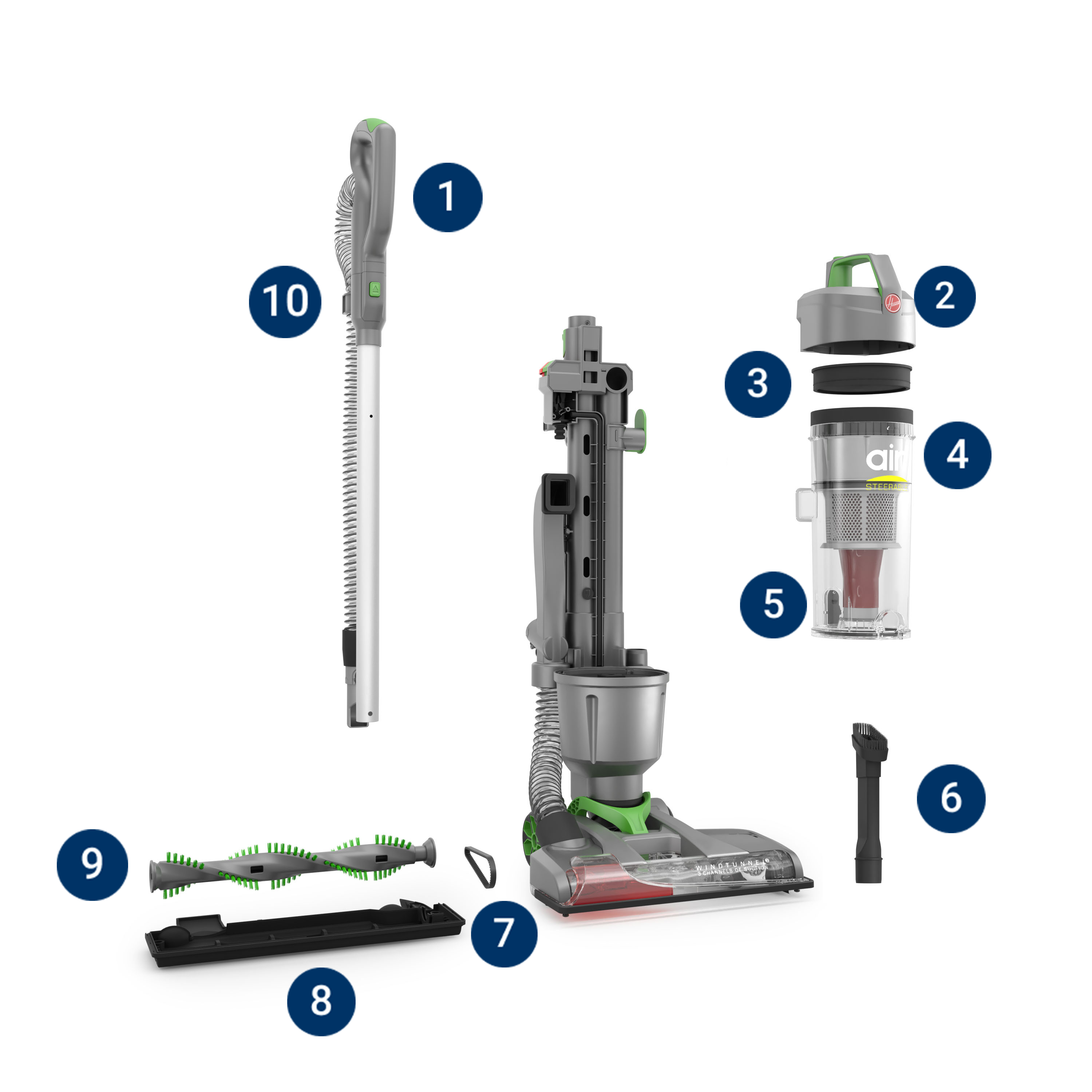 WindTunnel Air Steerable Upright Vacuum parts