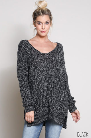 Chunky Knit Sweater Black