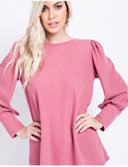 Dusty pink knit top