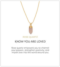 Load image into Gallery viewer, Berklee Necklace-Rose Quartz