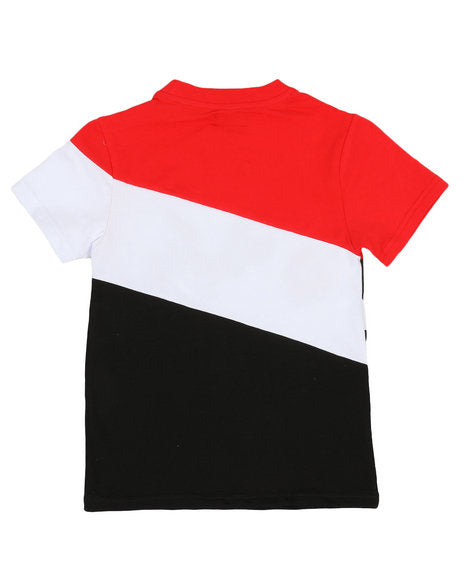 Colorblock Tee w- Chenille Accents - FLY GUYZ