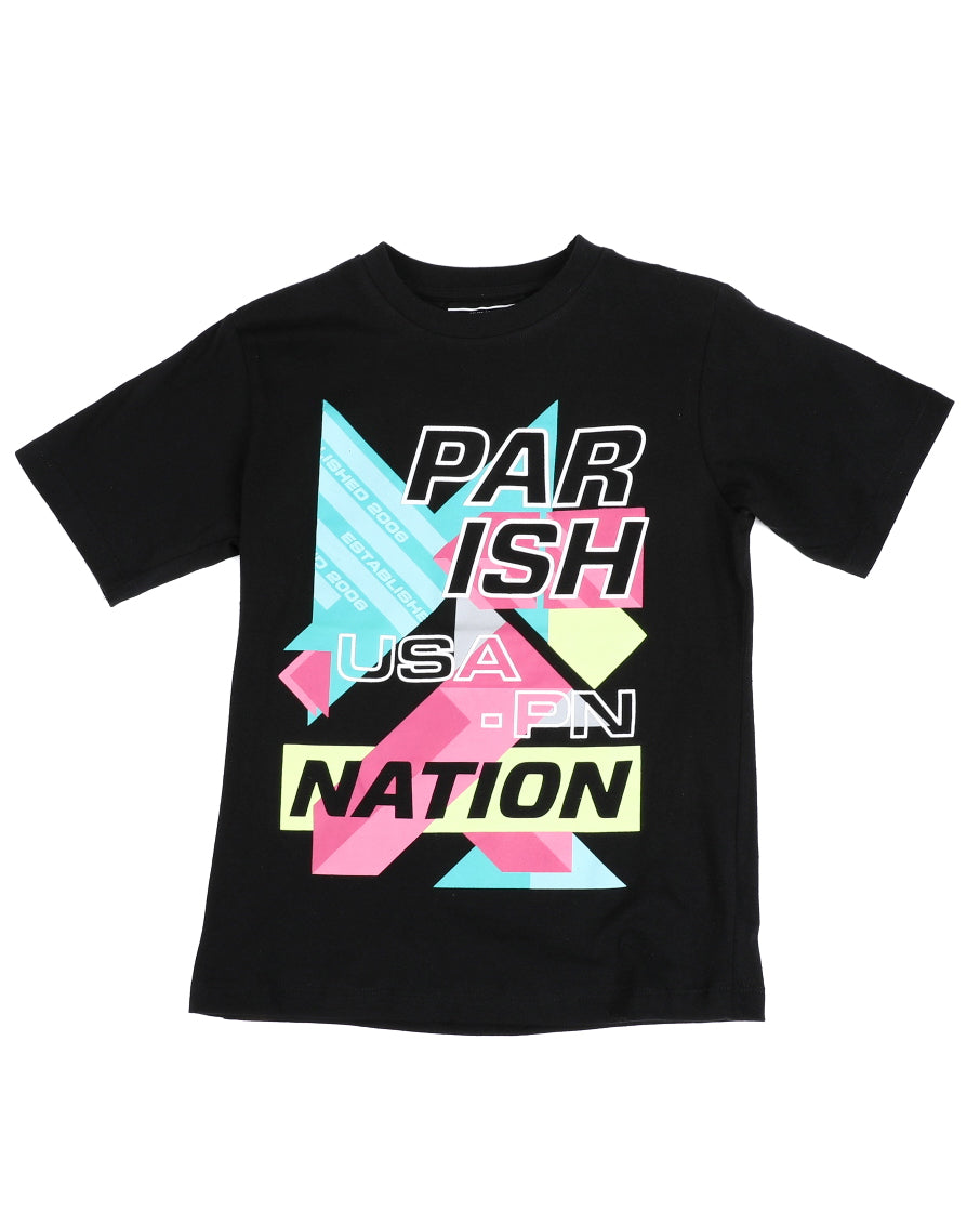 Color Block Graphic Tee - FLY GUYZ