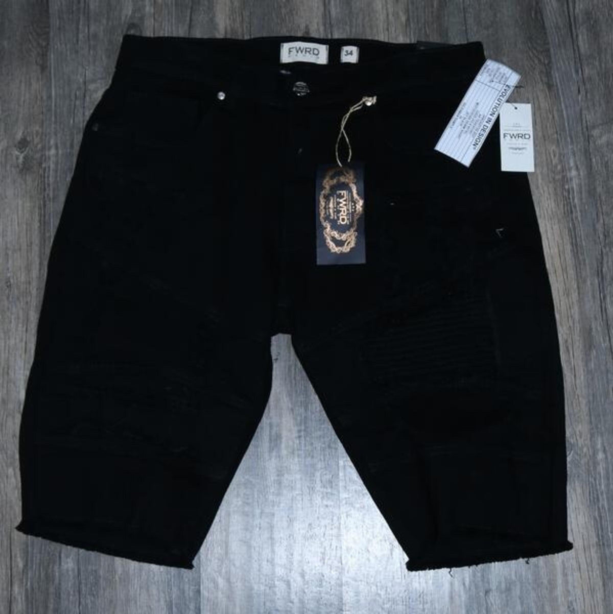 Maxed Out Biker Denim Shorts - FLY GUYZ