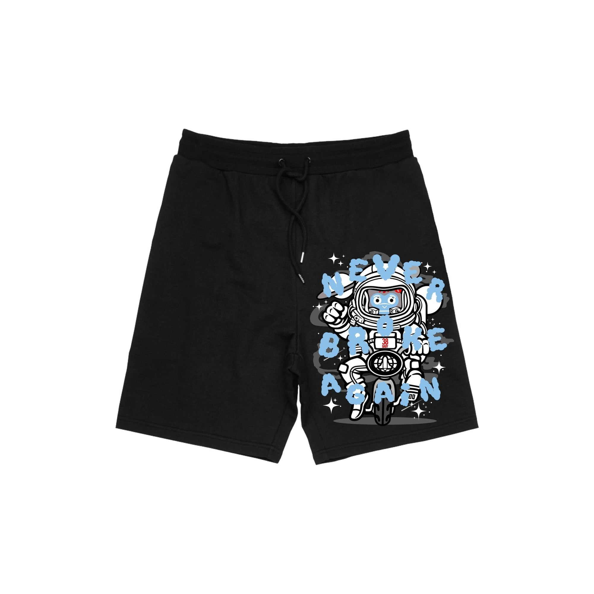 Never Broke Again Carolina Space Shorts - FLY GUYZ