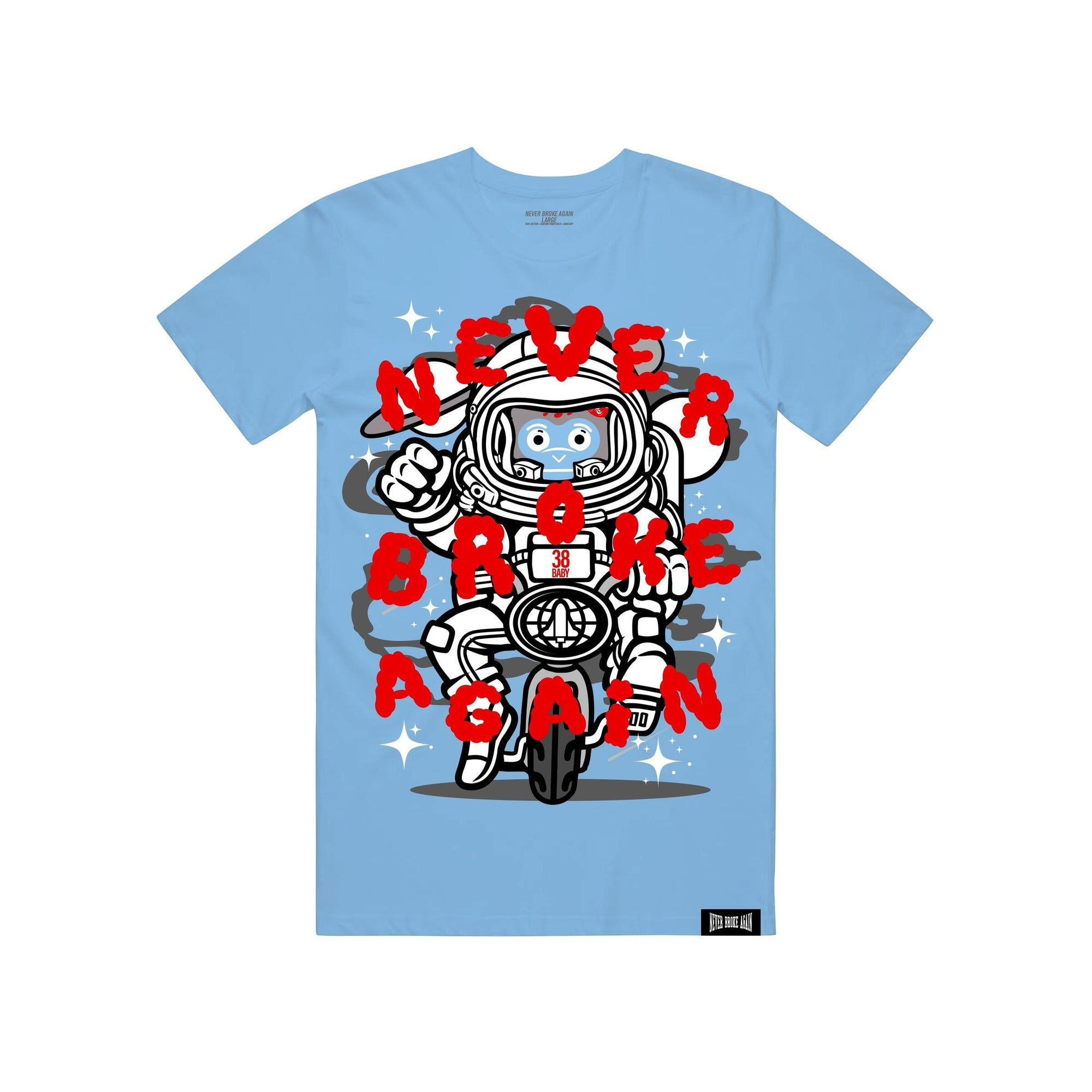 Never Broke Again Carolina Space T-shirt - FLY GUYZ