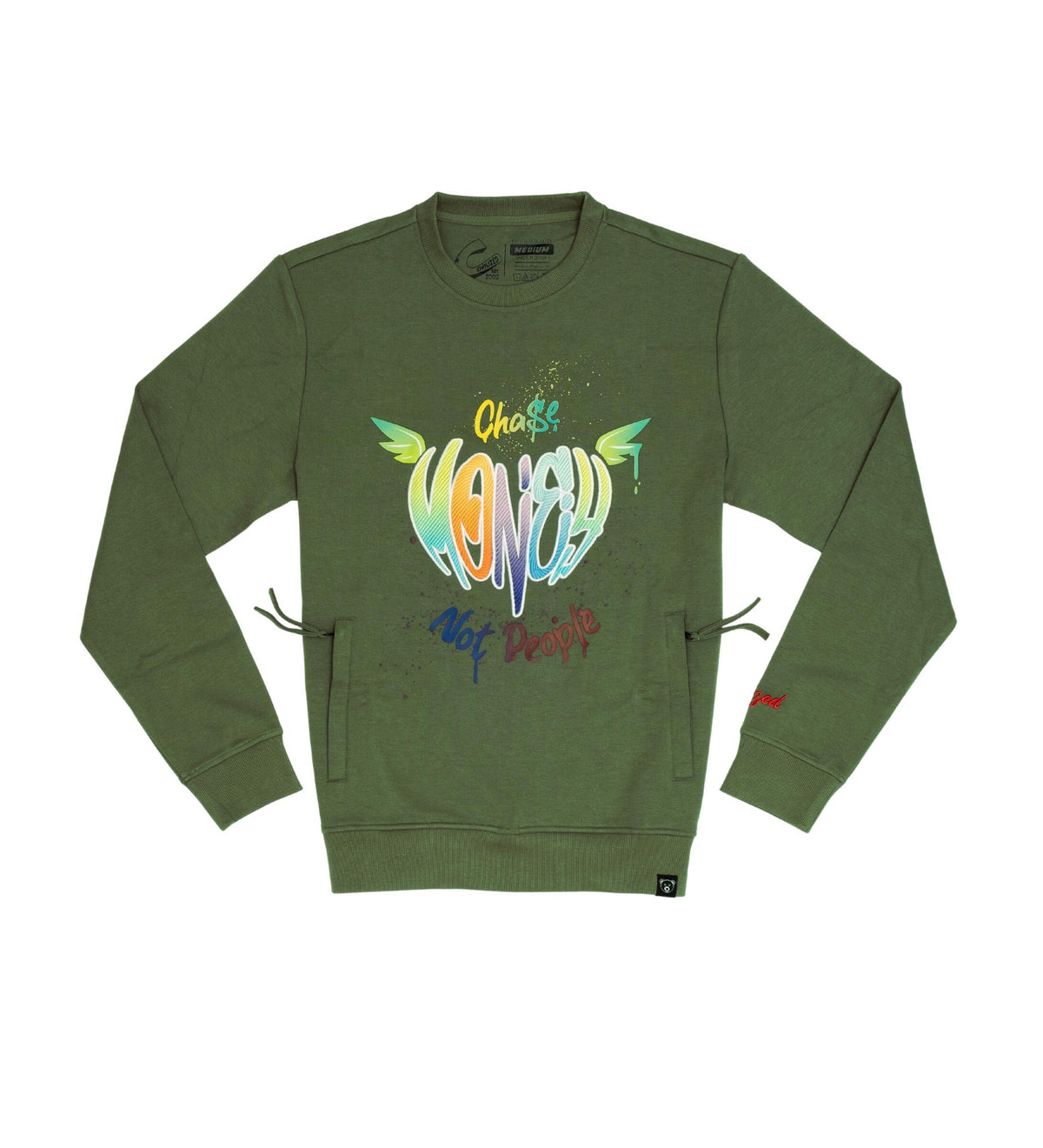 Chase Money Not People Crewneck (Men) - FLY GUYZ