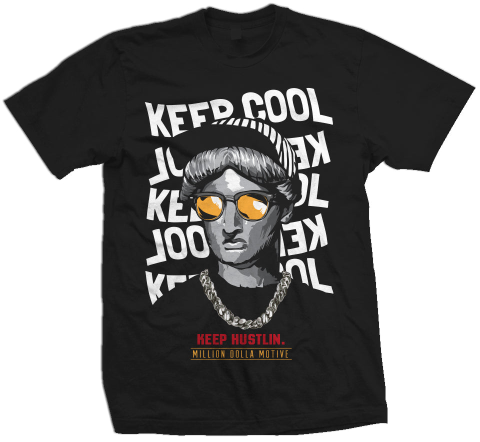 Keep Cool Keep Hustlin' Graphic Tee (Men) - FLY GUYZ