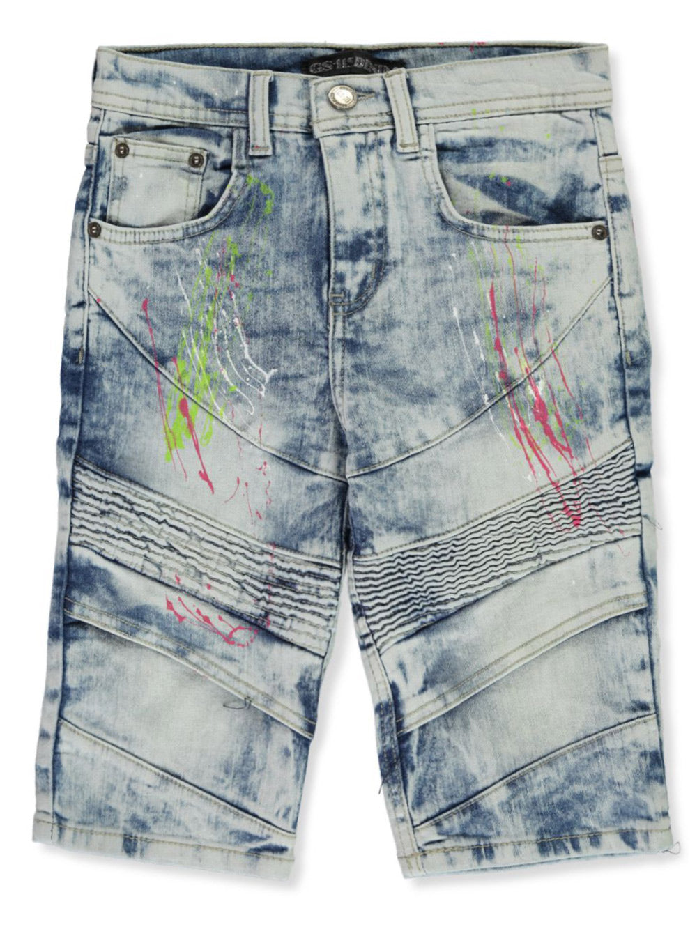 Paint Splatter Denim Shorts - FLY GUYZ