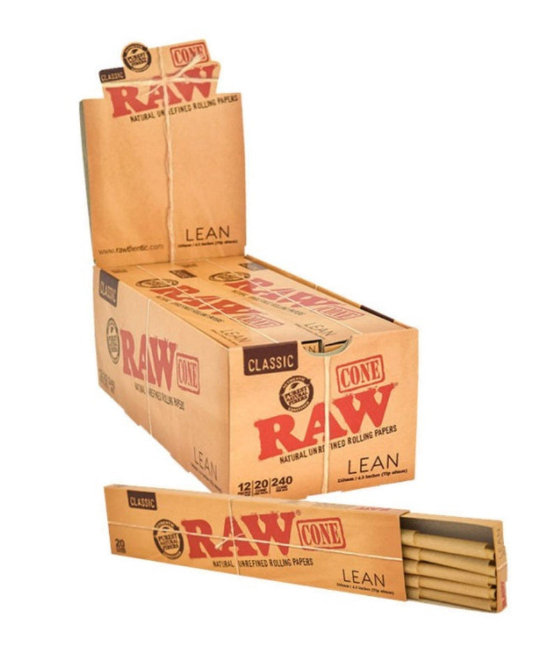 RAW Pre-Rolled Cones Classic King Size LEAN 20/pack - Big Dog Distribution Ltd.