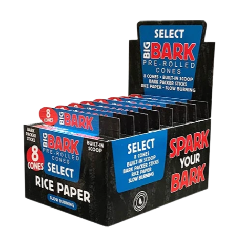 Big Bark 1 ¼ Select (rice) Pre-rolled Cones - 24 Packs