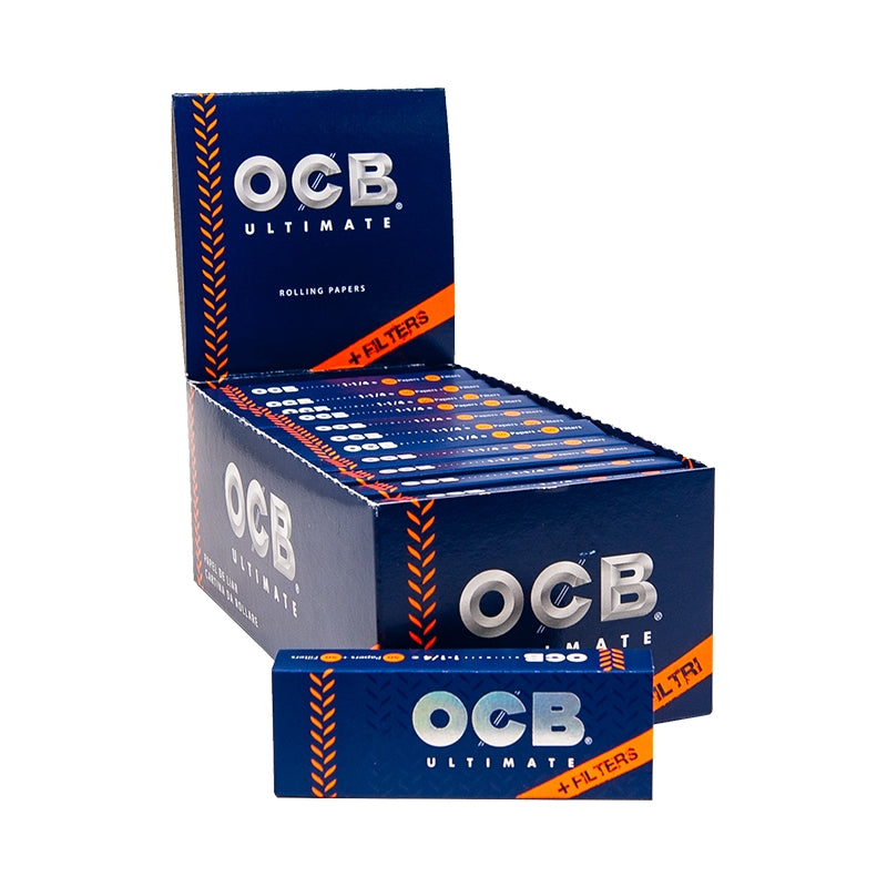 OCB Ultimate 1 1/4 with Filters - 24 Packs/ Box