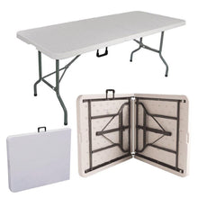 Charger l'image dans la galerie, 5FT CAMPING CATERING HEAVY DUTY FOLDING TABLE TRESTLE PICNIC BBQ PARTY - Bestime2shop