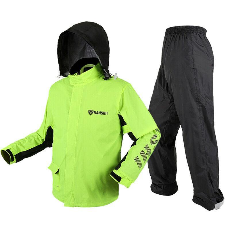 Motorcycle Rider Waterproof Raincoat Rain Suit Jacket and Pants for Men - Bestime2shop