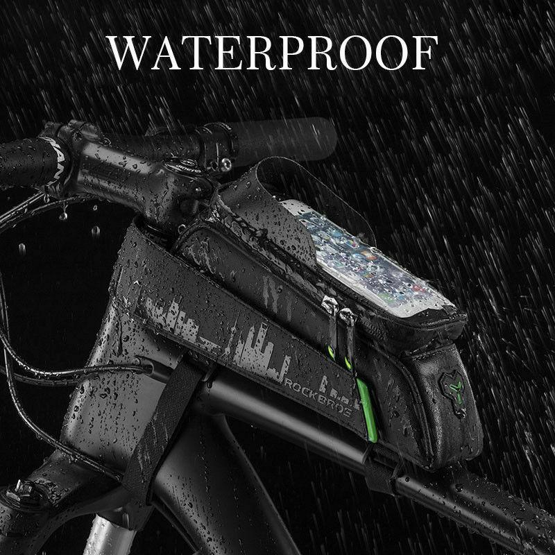ROCKBROS Bicycle Frame Bag Water Resistant High Sensitive Touch Phone Case - Bestime2shop