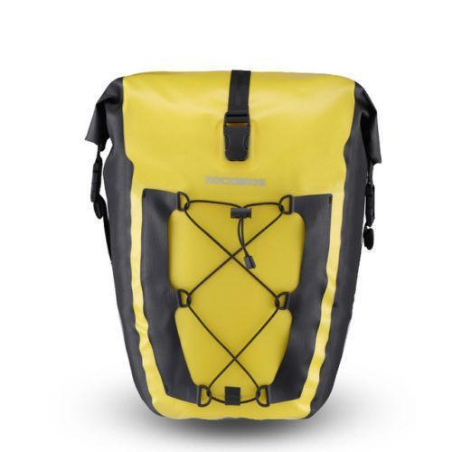 ROCKBROS Cycling Bicycle Travel Rear Seat Carrier Waterproof Pannier Bag Yellow - Bestime2shop